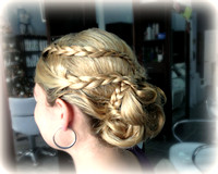 sunset wedding hairstyle